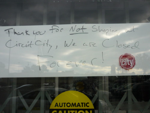Thank you for not shopping at Circuit City