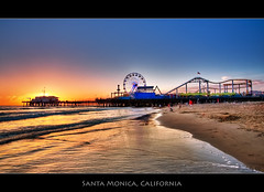 Pacific Park in Santa Monica (szeke) Tags: ocean california city sunset urban beach water landscape pier losangeles pacific santamonica wave ferriswheel pacificpark hdr blueribbonwinner photomatix theperfectphotographer qualitypixels pacificparkrides