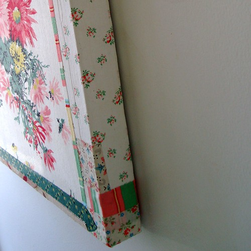 vintage fabric canvas side