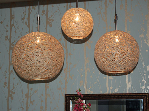 Hemp light fixtures