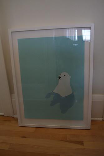 Custom Frame for Polar Bear Print