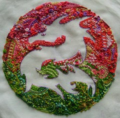 Dragon (fatquarter (Annet)) Tags: pink dragon embroidery assisi rnbw stitchexplorer2009 visiblytalented