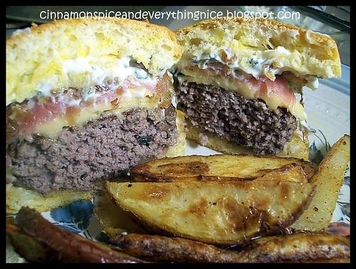 Gouda, Prosciutto & Caramelized Onion Burger
