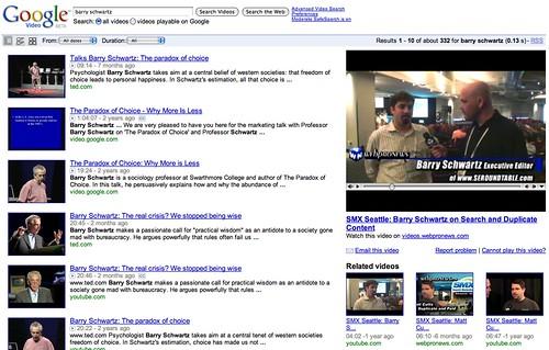 Google Video Redesign