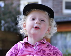 Mommy needed a subject! (Dirgnie) Tags: pink cute hat cap isabella 2009challenge 2009challenge112