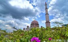 Putra Mosque / Masjid Putra V (Firdaus Mahadi) Tags: flowers sky cloud flower building tower architecture clouds buildings landscape landscapes architechture nikon scenery skies view muslim islam perspective mosque muslimah pointofview views malaysia bunga putrajaya nikkor awan dri masjid menara islamic langit sceneries pemandangan dynamicrangeincrease perspektif bangunan digitalblending putramosque 5exposures masjidputra tokina1116mmf28 islamcultureandpeople firdausmahadi firdaus