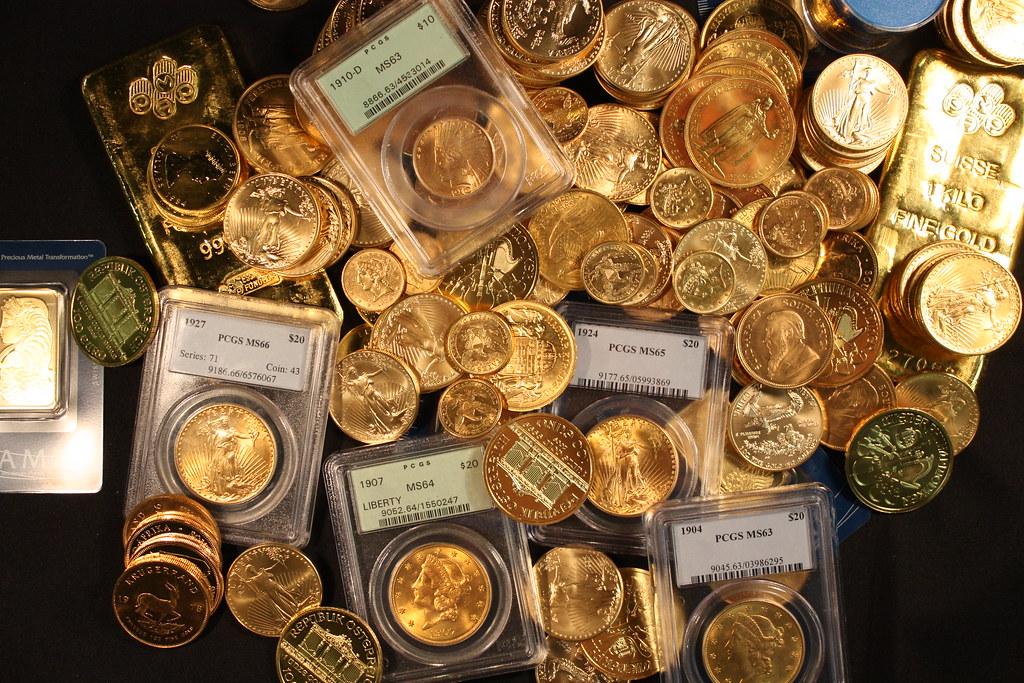 Gold Bullion Bars and Coins