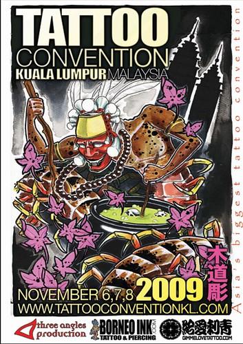 Tattoo Convention Kuala Lumpur 2009 Poster
