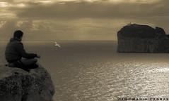 Dreamland (Mario Cabras) Tags: sardegna sea landscape interestingness interesting nuvole mare sardinia atmosphere explore dreams atmosfera paesaggio alghero capocaccia monocrhomatic monocromatica sognante mariocabras