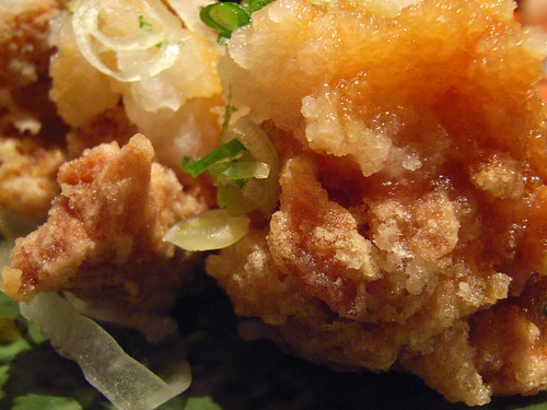 Deep-fried chicken with ponzu citrus sauce and grated daikon @ Sake Bar Hagi by you.
