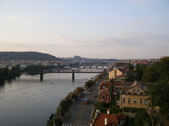 Wetawa i Hradany (magro_kr) Tags: street bridge water river landscape evening view prague praha praga most czechrepublic vltava woda widok vysehrad vyehrad rzeka wieczr czechy ulica krajobraz wieczor wyszehrad wetawa weltawa eskrebublika