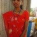 Wearing a Sari