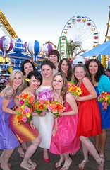 Yummy looking bridesmaids in all different colors!