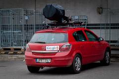 Googlemobiili (ansik) Tags: street camera city red car finland hardware google europe view turku maps laser sick astra streetview opel jpf 157 matkahuolto iskk jpf157