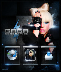 Lady Gaga - Gaga generation (netmen!) Tags: game love face lady dance fame just poker paparazzi generation gaga the