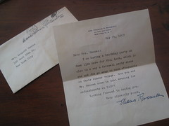 Letter from Eleanor Roosevelt