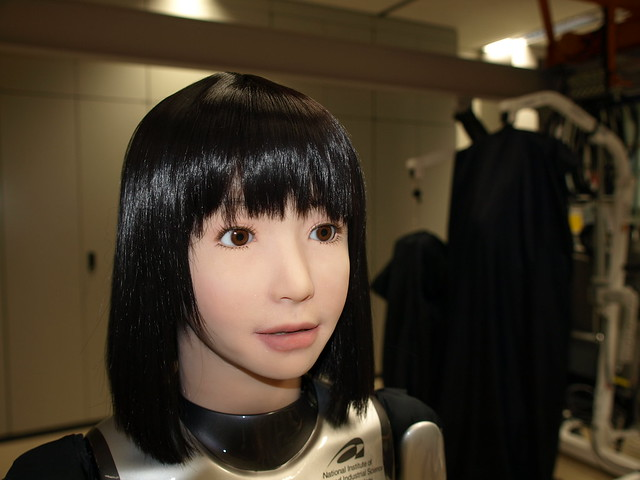 HRP-4C cabeza la niña robot humanoide