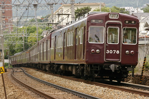 Hankyu3000series in Okamoto〜Mikage,Kobe,Hyōgo,Japan 2009/5/29