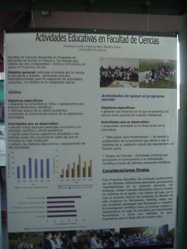 Sesión Poster, Montevideo, Uruguay