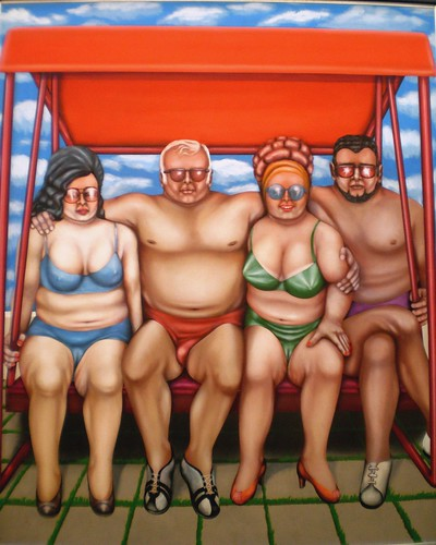 Herman Albert 'Vier Urlauber' (Four Tourists), 1974, Galerie der ...