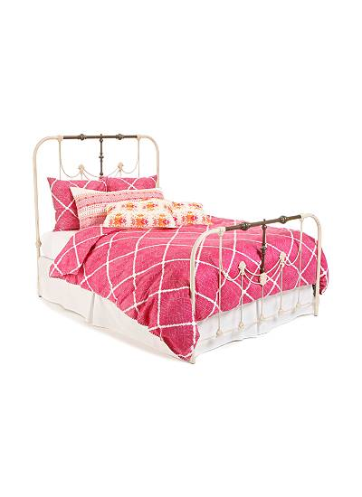 anthro pink duvet
