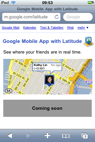 Latitude on iPhone