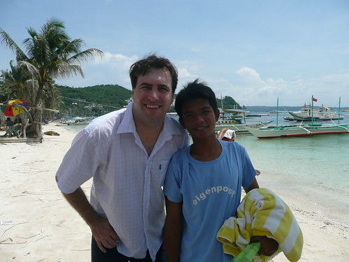 Paul and Sammy in Boracay