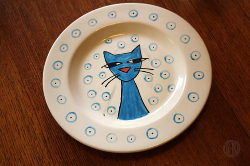 blue cat smudge plate