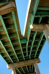 plan of attack (flee the cities) Tags: bridge concrete steel stjoseph engineering viaduct missouri infrastructure interstate pylons beams girders doubledecker saintjoseph stjoe interstatehighway underneaththebridge i229 interstate229