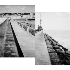 Ebb and flow ((stephenleopold)) Tags: flux normandie diptyque plage phare jete digue lehavre reflux ebbandflow marche2 ilfordpf4 chinoncm4 crve4