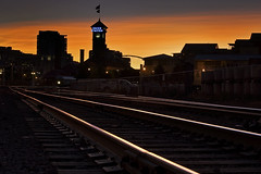 Union Station (Jon Asay ) Tags: railroad sunset station oregon yard train portland track union