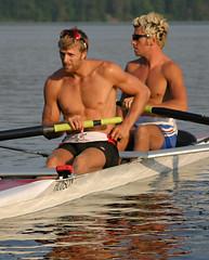 Gabe Bergen and Steve van Knotsenburg (inklake) Tags: canada rowing elklake inklake