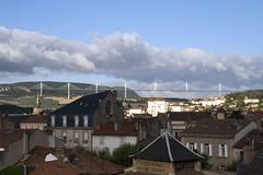 Millau 18-07-09-8620 (sweenpole2001) Tags: sky cloud holiday france rooftops viaduct hills millau