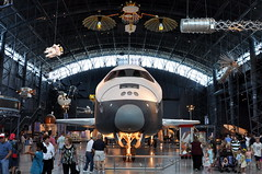 NASA - Space Shuttle OV-101 Enterprise - Air and Space Smithsonian - Udvar Hazy Center - July 29th, 2009 1294 RT CRP (TVL1970) Tags: stevenfudvarhazycenter udvarhazycenter udvarhazyannex smithsonian nationalairandspacemuseum smithsonianairandspacemuseum airandspacemuseum nasm washingtondullesinternationalairport dullesinternationalairport dullesairport iad nikon nikond90 d90 nikkor18105mmvr 18105mmvr nationalaeronauticsandspaceadministration nasa northamericanrockwell rockwellinternational grumman fairchild spaceshuttle orbitalvehicle enterprise spaceshuttleenterprise ov101 approachandlandingtests alt gordonfullerton fredhaise joeengle richardtruly aviation aircraft airplane glider tdrs trackinganddatarelaysatellite mannedmaneuveringunit mmu