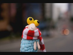 Stop Motion - Sheep and the red bus (Honey Pie!) Tags: street brazil bus brasil scarf funny sheep stripes explore curitiba rua expresso nibus stopmotion ludwigvanbeethoven divertido listras redbus ovelha cachecol explored nibusvermelho sheepinthebigcity sheepnacidadegrande 5symphony