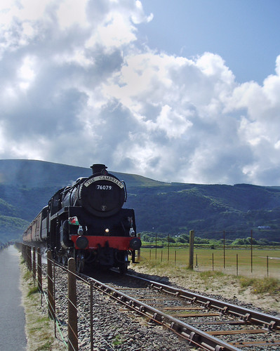 Steam train approaching Barmouth