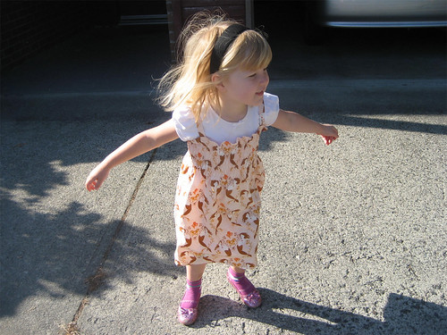 Playing in the new smocked sundress