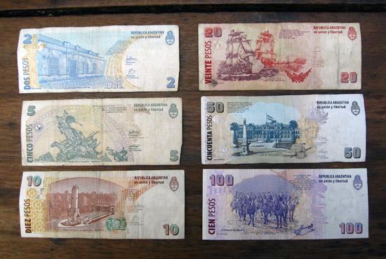 Banknotes, Argentinean pesos, bills