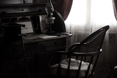 (ashley rose,) Tags: california lighting 50mm chair sandiego desk haunted sandiegoca whaleyhouse 50mm18f ashleyrose canonrebelxsi ashleyrosex whaleyhousesandiegoca