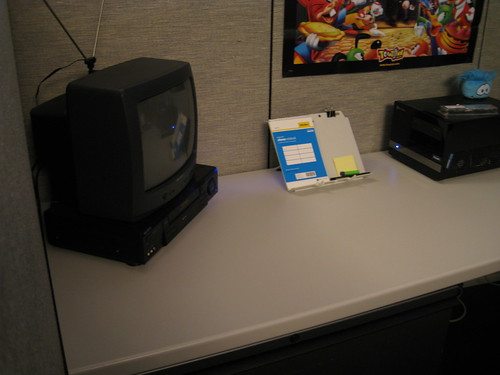 TV/VCR in my new office cube
