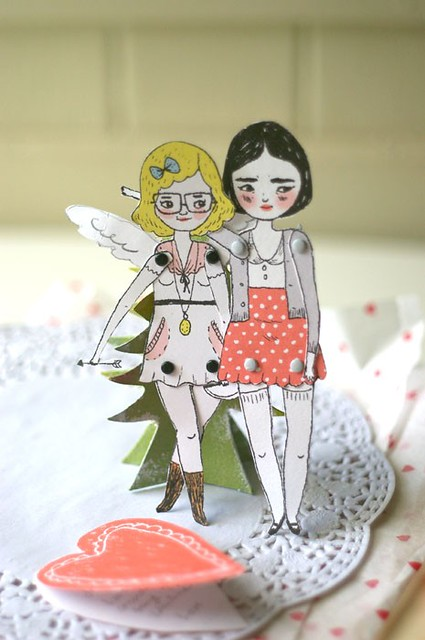 lili cupid paper doll