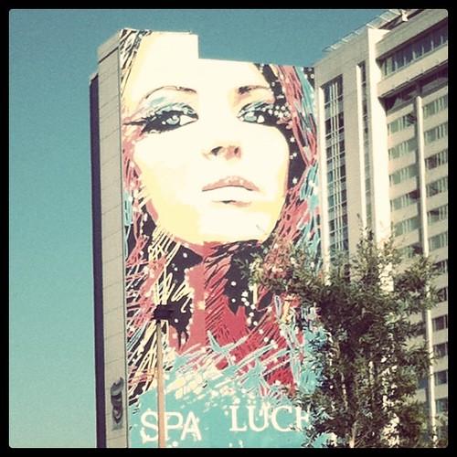 Spa Luce Hollywood ad advertisement billboard sign drollgirl