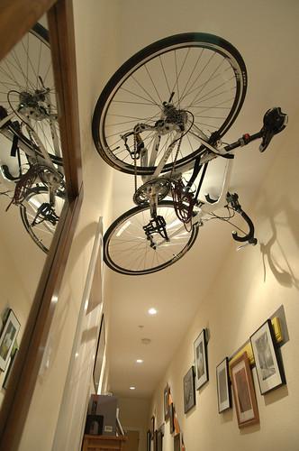 wall bicycle to best in bikes ceiling for ideas storage racks hang from garage rack bike slat image way hanging medium ceilings