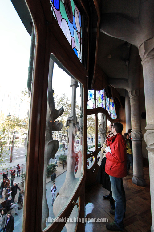 window to barcelona streets