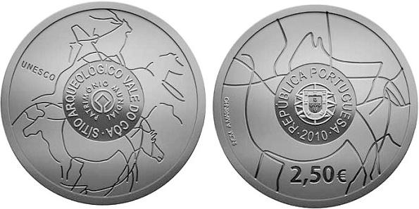 2,5 Euro Portugalsko 2010, Vale do Coa