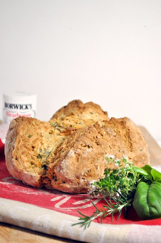 Bread Baking Babes - Irish White Soda Bread with Herbs