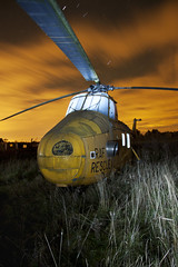 hellicopter (cover of darkness) Tags: light rescue yellow night painting photography long exposure paint rar hellicopter polition