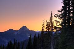 Yakima Peak at Sunset (samirdiwan) Tags: sunset washington peak mountrainier mountrainiernationalpark hdr yakima 410 2875 piercecounty chinookpass tipsoolake