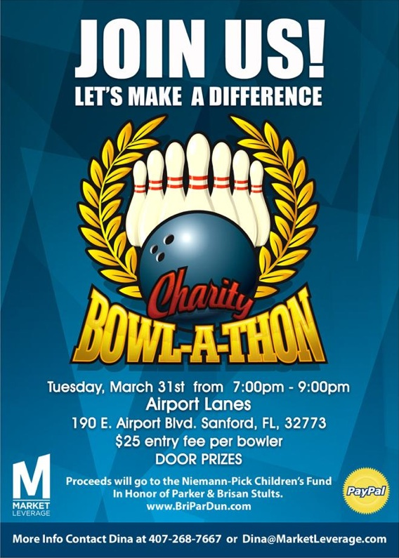Charity Bowl-a-Thon Flyer