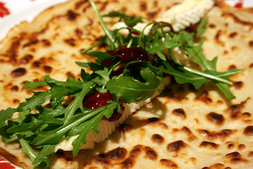 Brie cranberry and rocket